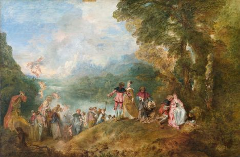 Pilgrimage to the Isle of Cythera, 1717, by Jean-Antoine Watteau