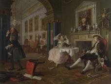 Mariage A-la-Mode: 2, The Tête à Tête, about 1743, William Hogarth