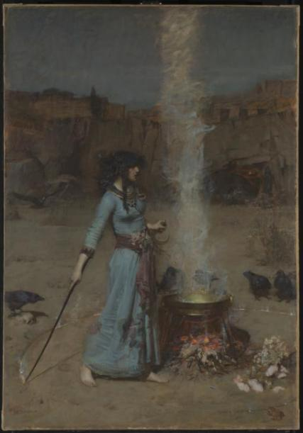 The Magic Circle, 1886, by John William Waterhouse